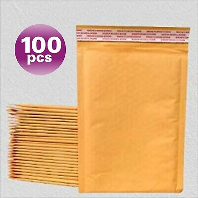 Yens® 100 #5 Kraft Bubble Padded Envelopes Mailers 10.5 X 16