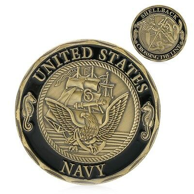 United States Navy Shellback Cross the Line Military Challenge Coin USN