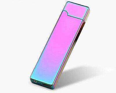 Elegant Metal Slim Blue/Pink + USB Cable Charged Lighter + Etui Free Shipping