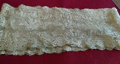 Antique Tambour Lace Dresser Scarf As Is