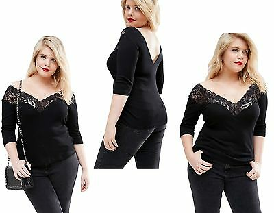 Womens Ladies Off The Shoulder Lace Boho Tunic Party Top Plus size 16 18 20