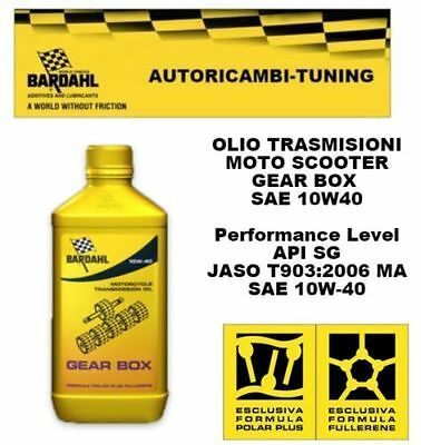 1 LITRO ACEITE Bardahl Bardhal ENGRANAJE BOX 10W40 MOTO SCOOTER 2T
