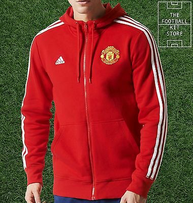 Man Utd Hoodie / Hooded Sweater - Official Adidas Football Training - All Sizes