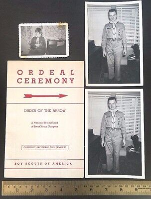 1948 Boy Scout Order Arrow Ordeal Ceremony Book Pamphlet Vintage Lot Photos