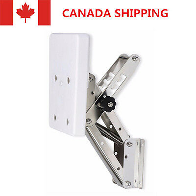 CA Shipping Heavy Duty Stainless Steel White Outboard Motor Bracket Up to 25HP