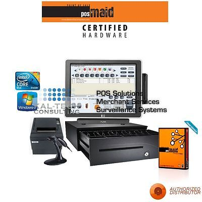 Retail Convenience Store POS Complete System w/Retail Maid POS Software 3GB RAM