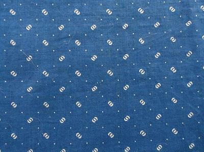 ~Back In Time Textiles~ Antique 1890 cadet blue fabric 8 pieces~