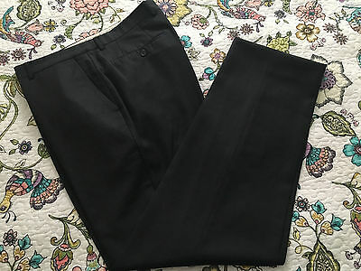 Santorelli Made In Italy 100% Wool Men's Flat Front Dress Pants Size 35/33