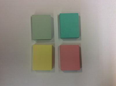 """Post It's Pastel 1.5x2"""" inch 3M Post-it 653 - AST Small Stick Notes Paper"""