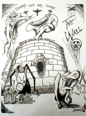 """Pink Floyd """"The Wall"""" Printed T-shirt/Fan Art/Original Drawing (Unofficial) Gift"""