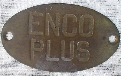 Vintage Gas Gasoline Pump Tag ENCO PLUS Humble Oil