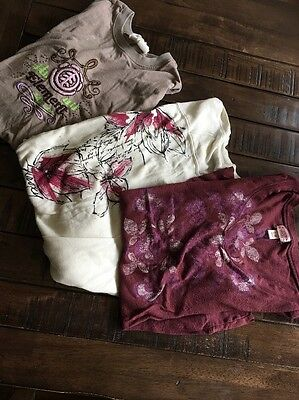 lot of 3,women's long sleeve top size medium roxy element mossimo GUC