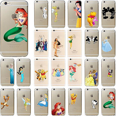 Disney Princess Snoopy Cartoon Cell Phone Crystal Hard Case Cover For iPhone