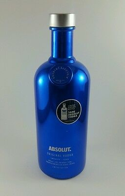 Limited Edition Electric Blue Absolute Bottle. Empty