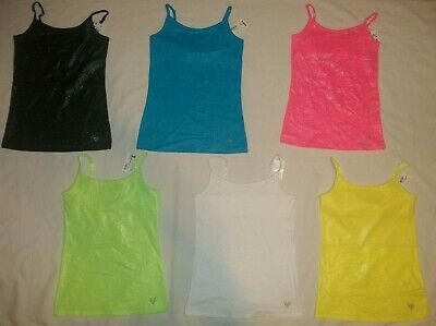 New Justice Girls Size 8 10 12 14 16 18 Foil Finish Camisole/Tank 6 Colors Pic 1