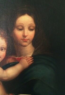 18thC Antique Madonna & Child O/C Old Master Oil Painting