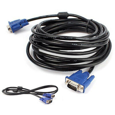 1.5-10M VGA Male to Male Extension Cable Cord Converter for PC TV Monitor Comfy