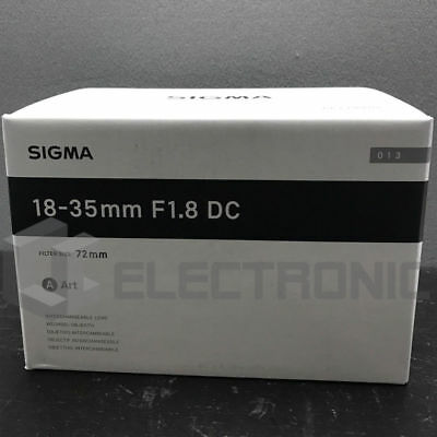 NEU Sigma 18-35mm F1.8 DC HSM Art Lens For Canon
