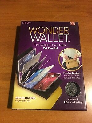 Wonder Wallet: The Wallet That Holds 24 Cards! RFID Blocking! New!