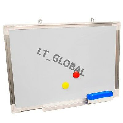 Brand New WHITEBOARD with Eraser Magnetic Buttom 500mmx350mm Commercial Quality