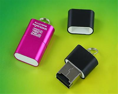 New USB 2.0 Mini Size up to 480Mbps Micro SD TF T-Flash Card Reader Adapter SPGD