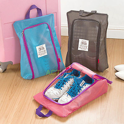 Breathable Portable Zipper Travel Shoes Holder Storage Bags Sneakers Pouch Bags