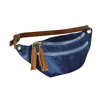 NEW STYLISH Faded Denim Fanny Pack