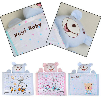 Newborn Baby Infant Soft Cotton Pillow Prevent Flat Head Anti Roll Support Neck