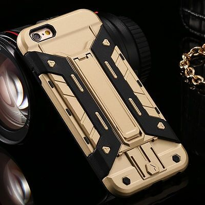 Shockproof Armor Kickstand Phone Case Card Slot Cover for iPhone Samsung S7 Edge