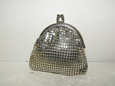 Vintage 70s Park Lane Small Mesh Purse Looks Great with Tag.