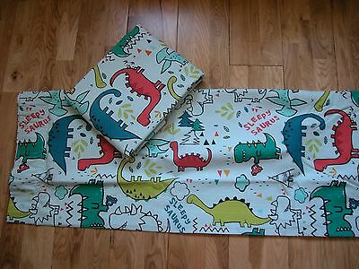 "NEXT DYLAN THE DINOSAUR PENCIL PLEAT BLACKOUT LINED BOYS CURTAINS 46x54"" BNIP"