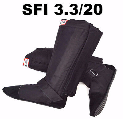 Drag / Auto Racing Fireproof Boots Shoes Rjs Sfi 3.3/20 Sfi 20 Black Size 9