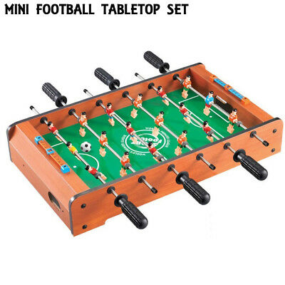 NEW Tabletop Soccer Table Football Game Set Foosball Sporting Goods Wooden Case