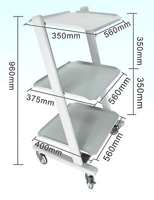 Dental Portable Medical Tool Cart with 3  Layers Iron Paint High Quality New