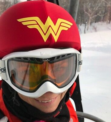 Wonder Woman Superhero helmet cover is suitable for all kinds of sport helmet