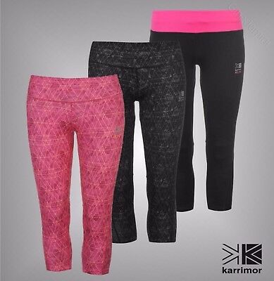 New Ladies Karrimor Breathable Mesh X Running Capris Cropped Bottoms Size 8-18