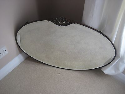 Original Art Nouveau Copper Edged Oval Mirror Collection Only