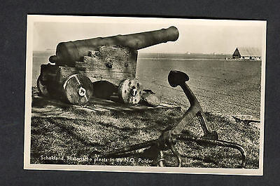 c1960s View of a Cannon & Anchor, Schokland, Holland