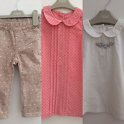 Bundle Baby Girl 12-18months White Blouse Trousers Dress BNWT. Next Mothercare.