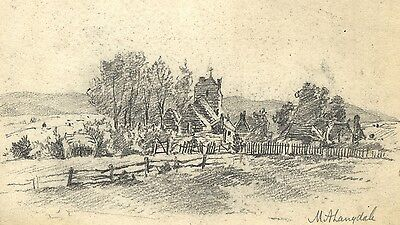 Marmaduke A. Langdale, Church at Pevensey, Sussex -19th-century graphite drawing