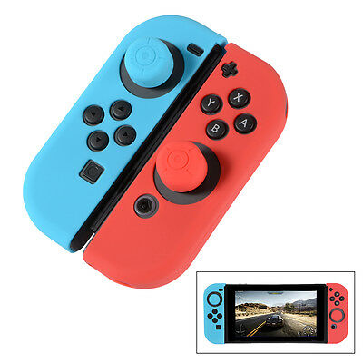 Soft Touch Silicone Joy Con Controller Case Cap Cover para Nintendo Switch AC735