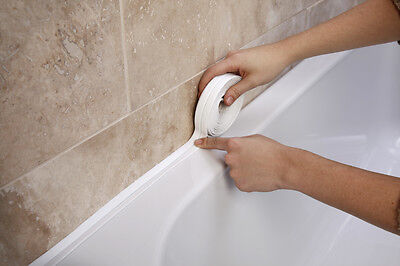 Bath and wall sealing strip, 38mm, 22mm, 11mm and 9mm.