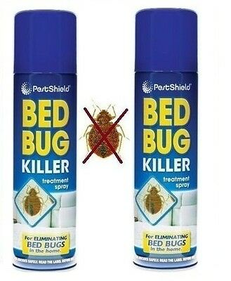 2 x Pest Control Bed Bug Control Killer Spray Linen Treatment Home Bed 200Ml New