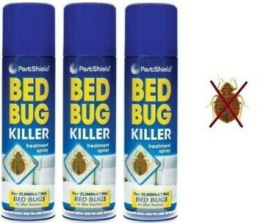 3 x Pest Control Bed Bug Control Killer Spray Linen Treatment Home Bed 200Ml New