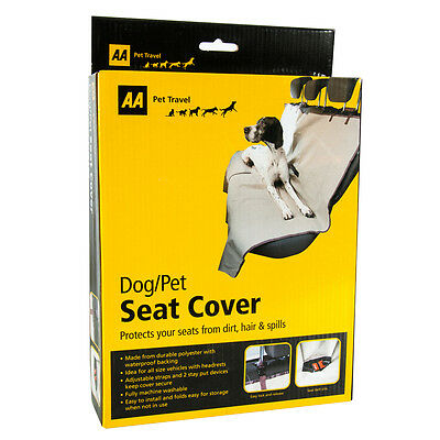 AA Car Pet Seat Cover for Dogs, Cats & Other Pets - Protects Your Rear Seats