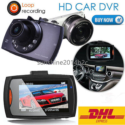 "2.7""Autokamera Recorder KFZ DVR Überwachung Dashcam HD 1080P Video Gefrat Aus DE"
