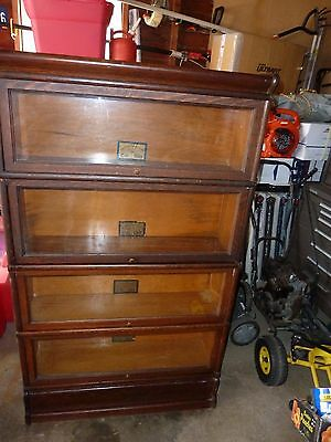 Rare Antique C-9 1/2 Globe Wernicke 299 Tiger Oak 4 Stack Barrister Bookcase