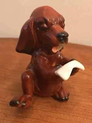 Vintage GOEBEL Singing Howling Toe Tapping DACHSHUND Puppy Dog