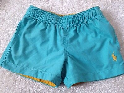 BOYS GENUINE RALPH LAUREN SWIM SHORTS IN TURQUOISE SIZE 2T AGE 18months-24months