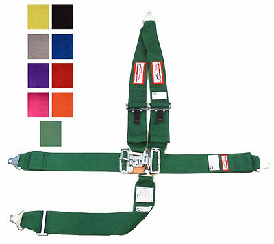 Sfi 16.1 Latch & Link 5 Point V Mount Racing Harness Seat Belt Green Any Color